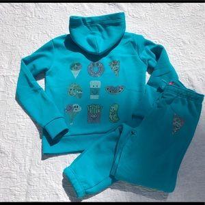 CLEARANCE!!**BUTTER Fleece Lined Blue Blinged Set